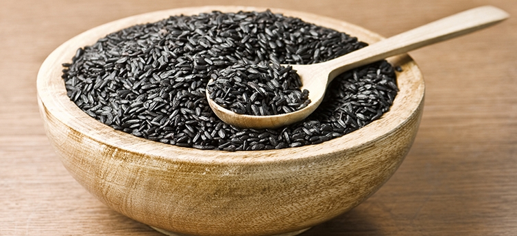 Nutritious purple foods black rice