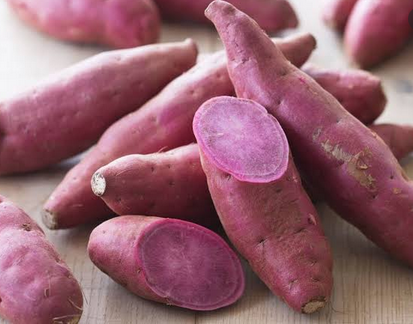 Nutritious purple foods purple sweet potatoes