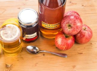 apple cider vinegar and honey