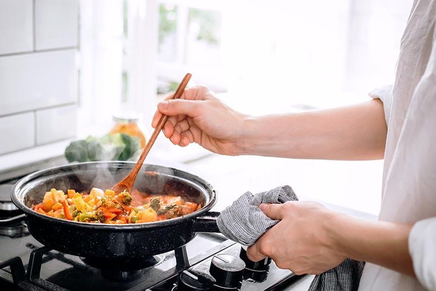 Cooking nutrients food