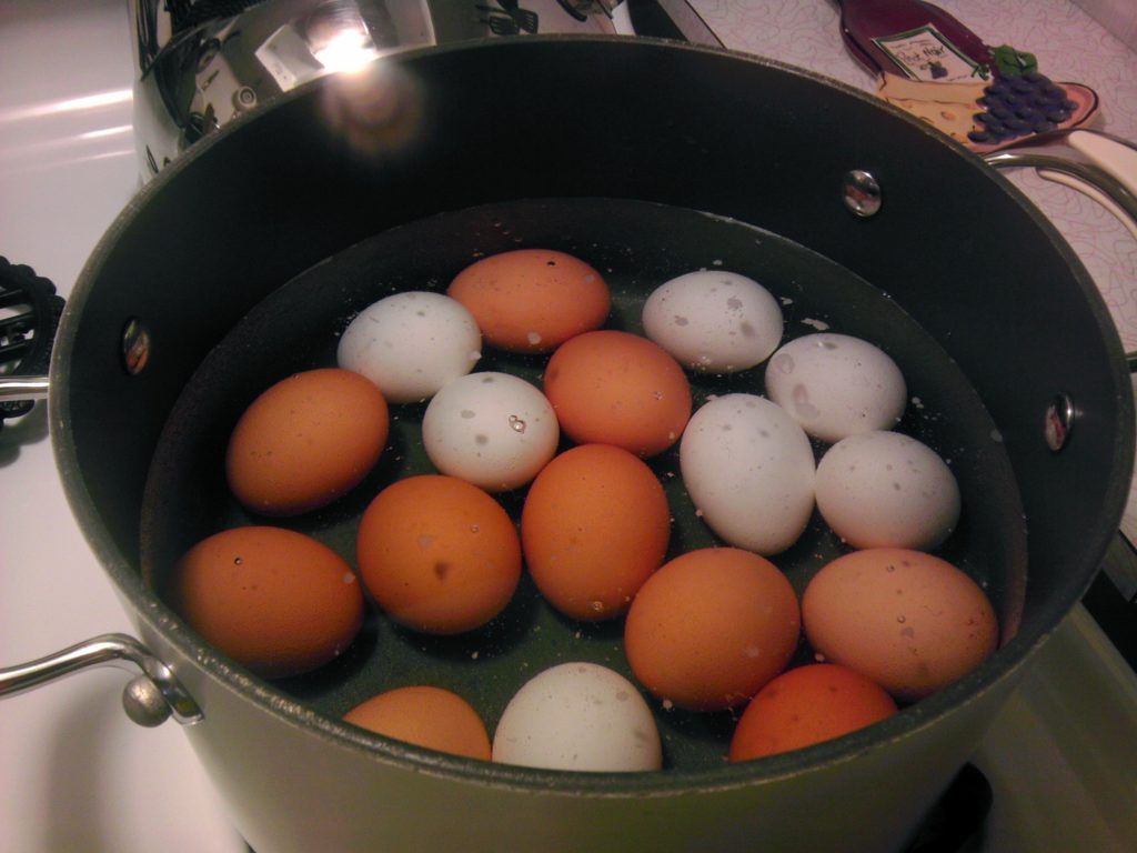 eggs boiling